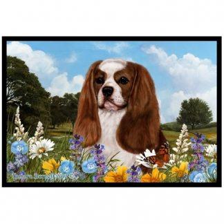 Cavalier Spaniel Mat - Summer Flowers