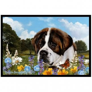 Saint Bernard Mat - Summer Flowers