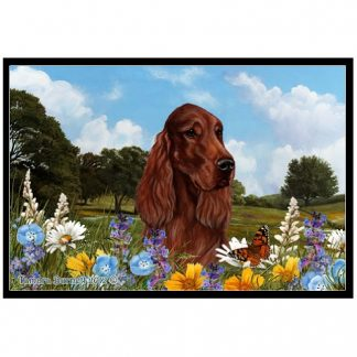 Irish Setter Mat - Summer Flowers
