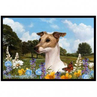 Italian Greyhound Mat - Summer Flowers