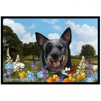 Australian Cattle Dog Mat - Summer Flowers