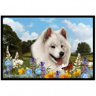 Samoyed Mat - Summer Flowers