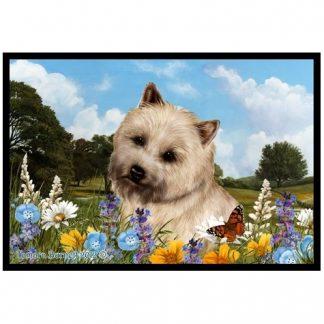 Cairn Terrier Mat -  Summer Flowers (Wheaten)
