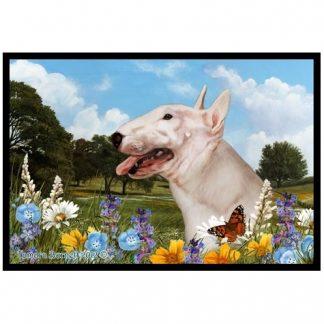 Bull Terrier Mat - Summer Flowers