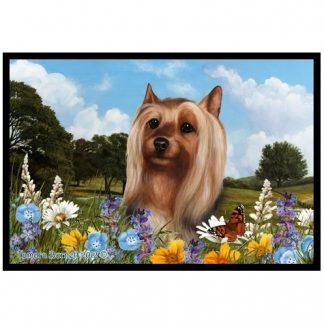 Silky Terrier Mat - Summer Flowers