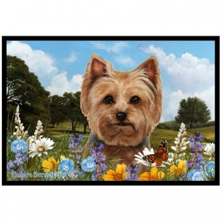 Yorkshire Terrier Mat - Summer Flowers (Puppy cut)