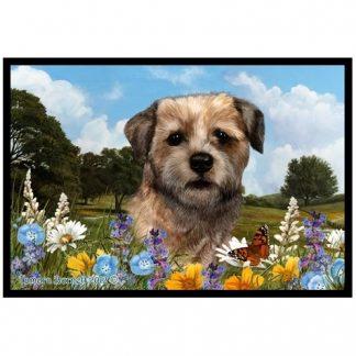 Border Terrier Mat - Summer Flowers