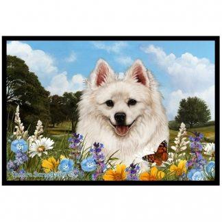 American Eskimo Mat - Summer Flowers