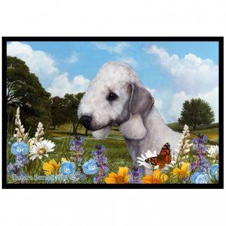 Bedlington Terrier Mat - Summer Flowers