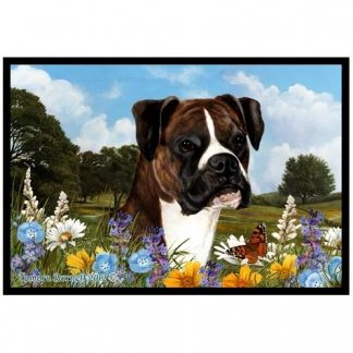 Boxer Mat - Summer Flowers (Uncropped-Brindle)