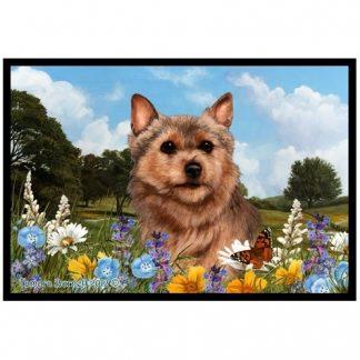 Norwich Terrier Mat - Summer Flowers