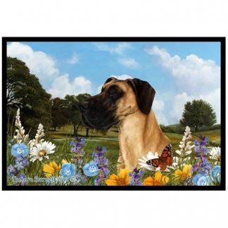 Great Dane Mat - Summer Flowers (Uncropped)