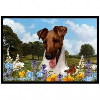 Smooth Fox Terrier Mat - Summer Flowers