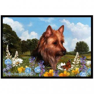 Australian Terrier Mat - Summer Flowers