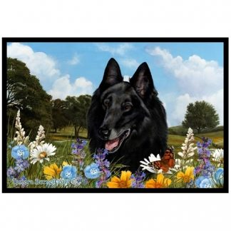 Belgian Sheepdog Mat - Summer Flowers