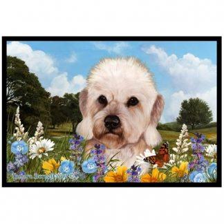 Dandie Dinmont Mat - Summer Flowers (Mustard)