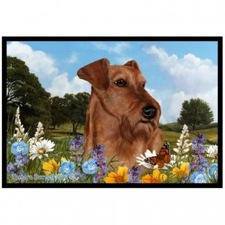 Irish Terrier Mat - Summer Flowers