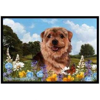Norfolk Terrier Mat - Summer Flowers