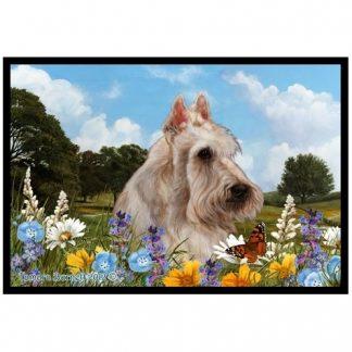 Scottish Terrier Mat - Summer Flowers (Wheaten)