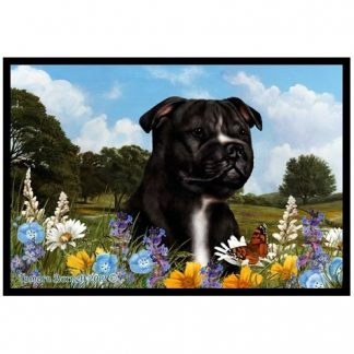 Staffordshire Bull Terrier Mat - Summer Flowers