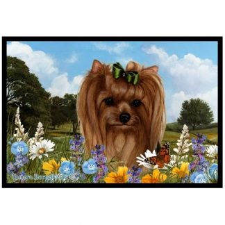 Yorkshire Terrier Mat - Summer Flowers