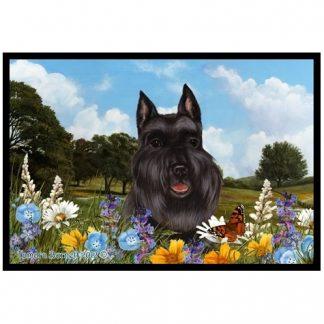 Schnauzer Mat - Summer Flowers (Black)