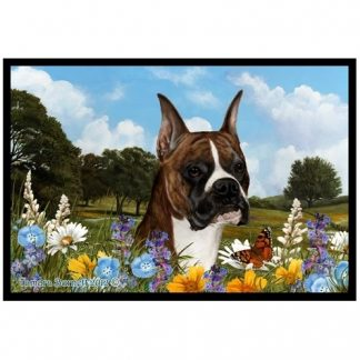Boxer Mat - Summer Flowers (Brindle)