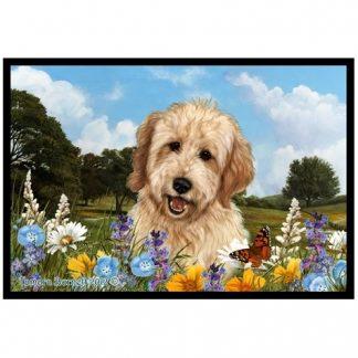 Goldendoodle Mat - Summer Flowers (Blonde)
