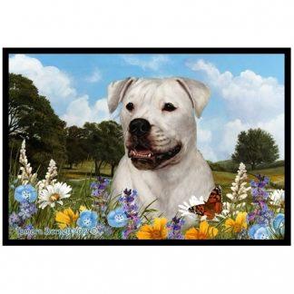 American Bulldog Mat - Summer Flowers