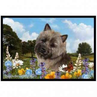 Cairn Terrier Mat - Summer Flowers (Brindle)
