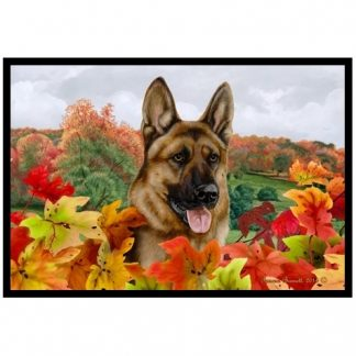 German Shepherd Mat - Autumn Leaves