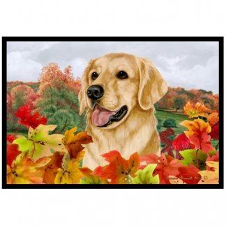 Golden Retriever Mat - Autumn Leaves