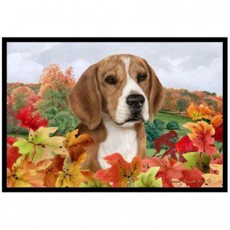 Beagle Mat - Autumn Leaves