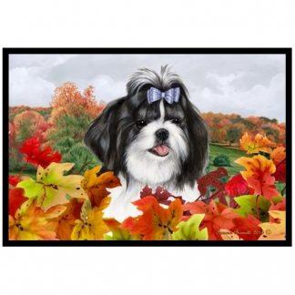 Shih Tzu Mat - Autumn Leaves