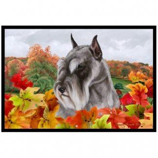 Schnauzer Mat - Autumn Leaves (Cropped)