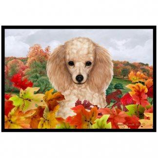 Apricot Poodle Mat - Autumn Leaves