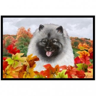 Keeshond Mat - Autumn Leaves
