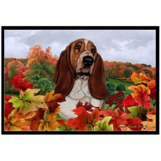 Basset Hound Mat - Autumn Leaves