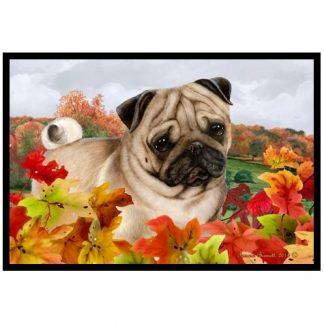 Pug Mat - Autumn Leaves