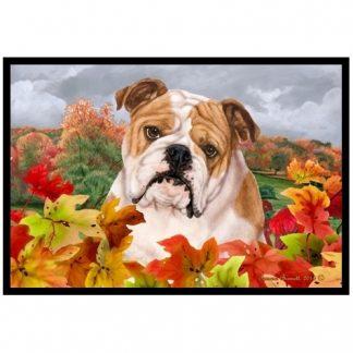 Bulldog Mat - Autumn Leaves