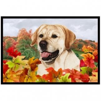 Yellow Lab Mat - Autumn Leaves