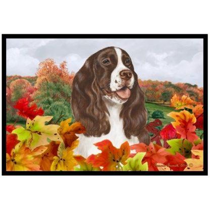 Springer Spaniel Mat - Autumn Leaves (Liver)