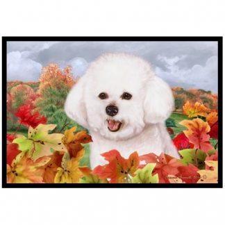 Bichon Frise Mat - Autumn Leaves