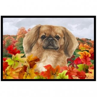 Pekingese Mat - Autumn Leaves