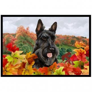 Scottish Terrier Mat - Autumn Leaves