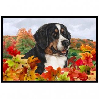 Bernese Mountain Dog Mat - Autumn Leaves