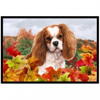 Cavalier Spaniel Mat - Autumn Leaves