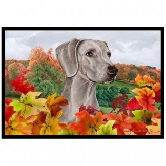 Weimaraner Mat - Autumn Leaves