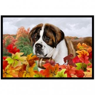 Saint Bernard Mat - Autumn Leaves