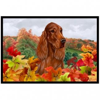 Irish Setter Mat - Autumn Leaves